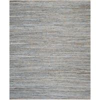 Safavieh Cape Cod Contemporary Handmade Natural/ Blue Cotton Rug - 11' x 15'