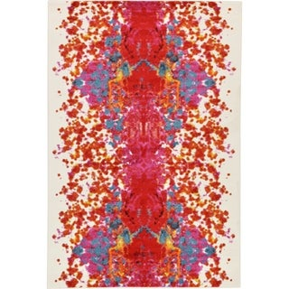 Lyon Ivory Base with Red and Multi-colored Accents Rug (6' x 8'11)