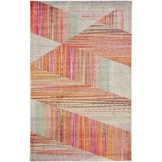 Multicolored Lyon Rug with Geometric Pattern (4'11 x 8')