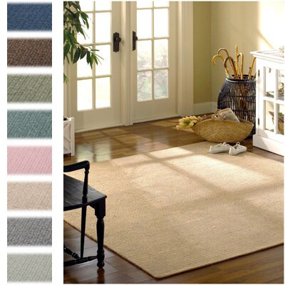 Solid Heathered Braided Reversible Rug USA MADE - 7' x 9'