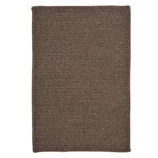 Solid Heathered Braided Reversible Rug USA MADE - 7' x 9' (More options available)