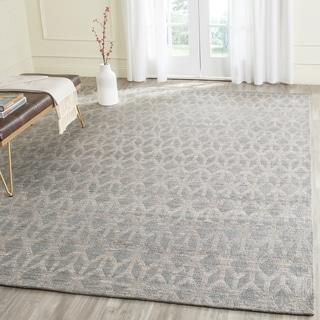 Safavieh Cape Cod Contemporary Handmade Grey/ Gold Rectangle Rug (11' x 16')