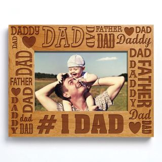 Words For Dad Brown Wood Photo Frame