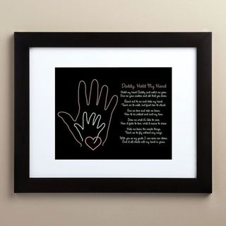 'Daddy Take My Hand' Black Wood Framed Print (11 x 14)
