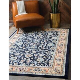 Kashan Navy Blue Rug (4' 11 x 8')