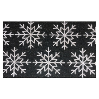 Snowflake Vinyl Backed Coir Doormat (18 x 30)