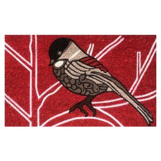Bird Vinyl-backed Coir Doormat (18-inch x 30-inch)