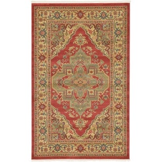 Unique Loom Arsaces Sahand Area Rug (Red - 5 x 8)