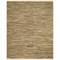 Safavieh Hand-Woven Rag Cotton Rug Yellow/ Multicolored Cotton Rug - 6' x 9'