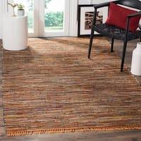 Safavieh Hand-Woven Rag Cotton Rug Gold/ Multicolored Cotton Rug - 5' x 8'