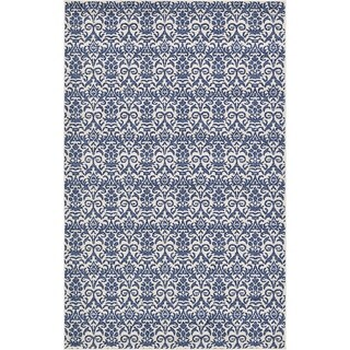 "Blue Damask Rug (5'1"" x 8')"