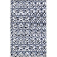 Unique Loom Peaceful Damask Area Rug - 5' x 8'