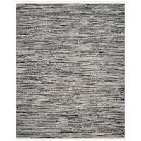 Safavieh Hand-Woven Rag Cotton Rug Grey Cotton Rug - 5' X 8'