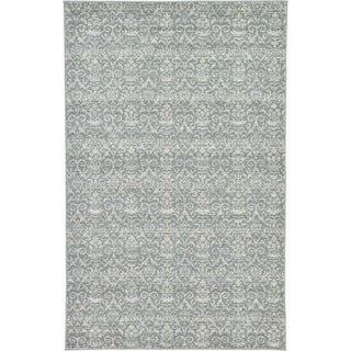Turkish Damask Grey Rug (5'1 x 8')