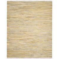 Safavieh Hand-Woven Rag Cotton Rug Gold/ Multicolored Cotton Rug (5' x 8')