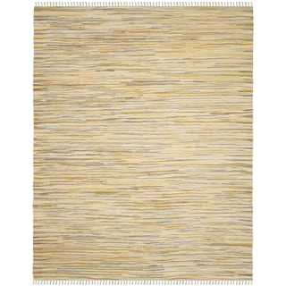 Safavieh Hand-Woven Rag Cotton Rug Gold/ Multicolored Cotton Rug (6' x 9')