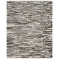 Safavieh Hand-Woven Rag Cotton Rug Black/ Multicolored Cotton Rug - 5' x 8'