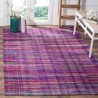Safavieh Rag Cotton Rug Bohemian Handmade Purple/ Multi Cotton Rug - 5' x 8'