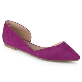 Journee Collection Women's 'Ester' Faux Suede D'Orsay Flats|https://ak1.ostkcdn.com/images/products/13291060/P20002360.jpg?impolicy=medium