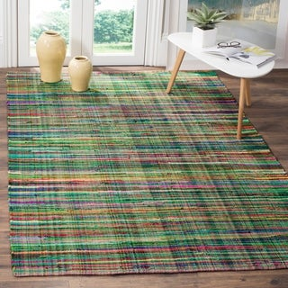 Safavieh Rag Cotton Rug Bohemian Handmade Green/ Multi Cotton Rug (5' x 8')