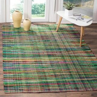Safavieh Rag Cotton Rug Bohemian Handmade Green/ Multi Cotton Rug (6' x 9')