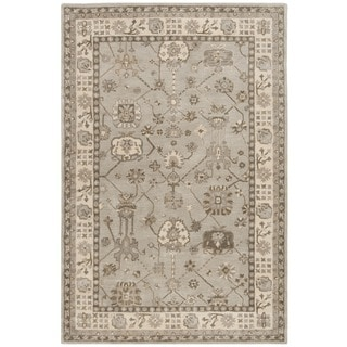 Safavieh Royalty Traditional Handmade Silver/ Cream Wool Rug (6' x 9')