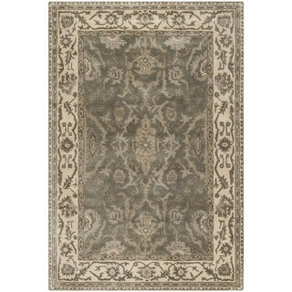 Safavieh Royalty Traditional Handmade Grey/ Cream Wool Rug (6' x 9')
