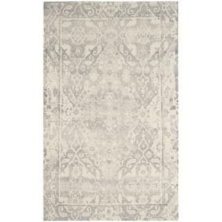 Safavieh Handmade Restoration Vintage Light Grey / Ivory Wool Distressed Rug (6' x 9')