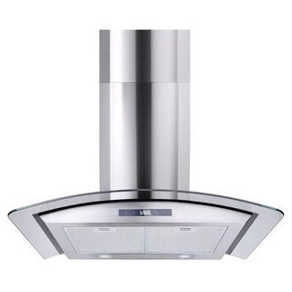 Premium 30in Stainless Steel Glass Wall Mount Range Hood 760 CFM