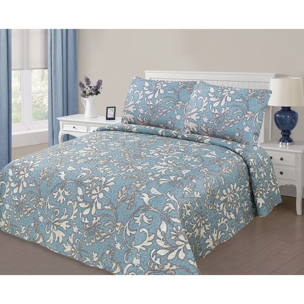 Journee Home ' Leilani' 3 pc Printed Quilt Set