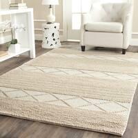 Safavieh Natura Handmade Contemporary Beige Wool Rug (11' x 15')