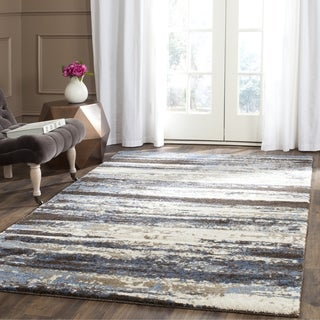 Safavieh Retro Modern Abstract Cream/ Blue Distressed Rug (12' x 18')
