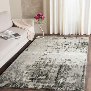 Safavieh Retro Modern Light Grey/ Grey Rug (11' x 15')