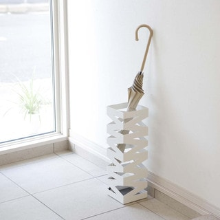 Rock White/ Black Umbrella Stand by Yamazaki Home