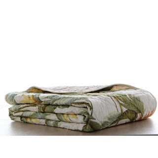 Tommy Bahama Birds of Paradise Cotton Quilted Throw