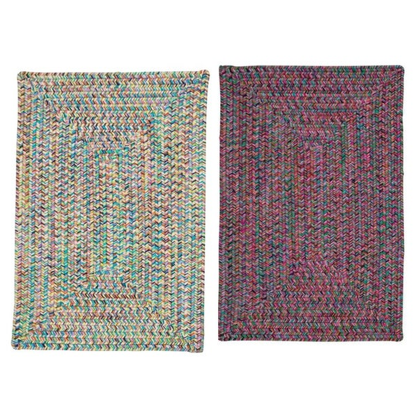 Stargaze Multi-Color Indoor/Outdoor Braided Reversible Rug USA MADE - 5' x 7'