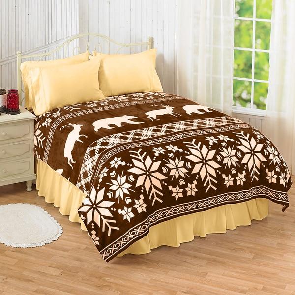 Winter Cocoa Brown Blanket