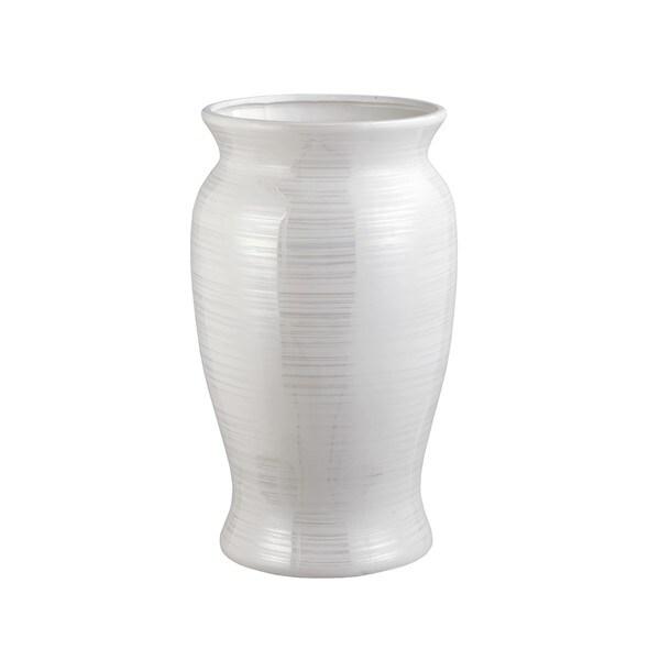 Shop Aurelle Home Sync Large Floor Vase Pearl White Free