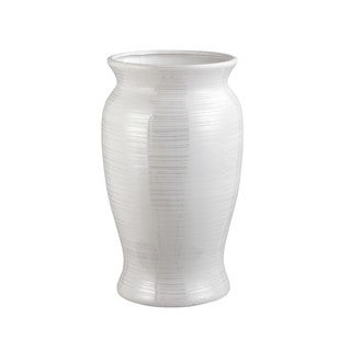Aurelle Home Sync Large Floor Vase Pearl White (2 options available)