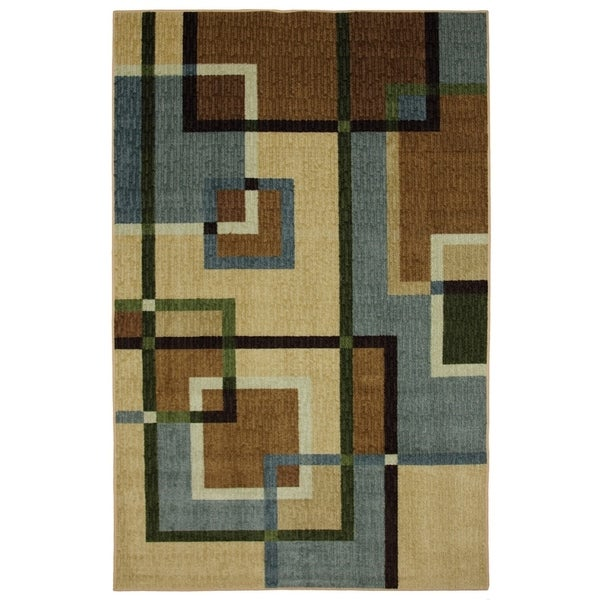 Mohawk Home Connexus Overlapping Squares Area Rug (5' x 8') - 5' x 8'