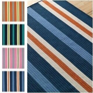 Colonial Mills Sunset Stripe Multicolor Polypropylene Rug (5' x 7')