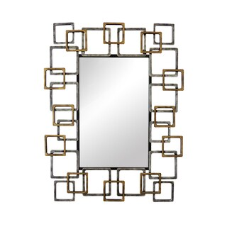 Aurelle Home Ivan Gold Framed Mirror - N/A