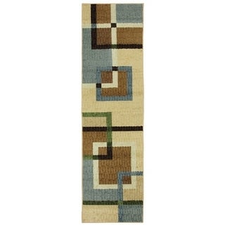 Mohawk Home Connexus Overlapping Squares Area Rug (2'x8')
