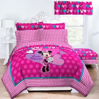 Disney Minnie Exploded Hearts Reversible Twin/Full Comforter