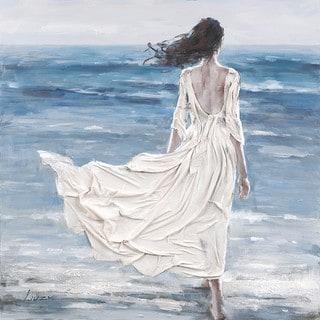 Aurelle Home Girl by the Ocean Canvas Wall Decor