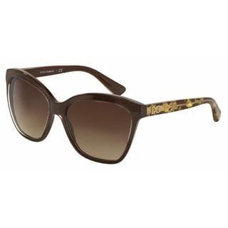 Dolce&Gabbana Women DG4251 291813 Brown Plastic Square Sunglasses