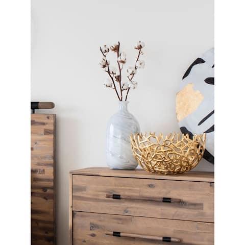 Aurelle Home Decorative Golden Bowls (Set of 2)