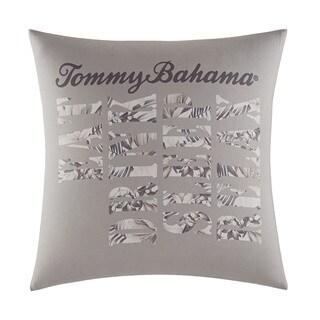 Tommy Bahama Sandy Coast Ivory Cotton Decorative Pillow