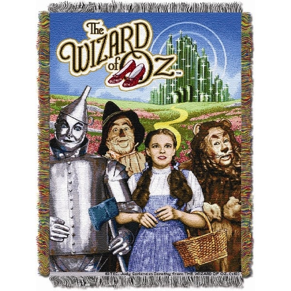 ENT 052 Wizard of Oz Group Woven Tapestry Throw