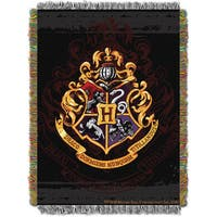 ENT 052 Harry Potter Hogwarts Decor Woven Tapestry Throw